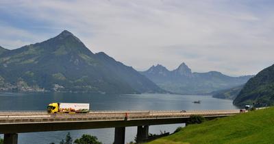 Gotthard-Autobahn bei Beckenried