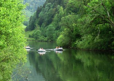Paddeln auf dem Doubs