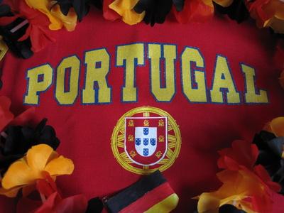 Portugal wird von Deutschland umrahmt