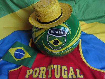 Brasil und Portugal-Deko