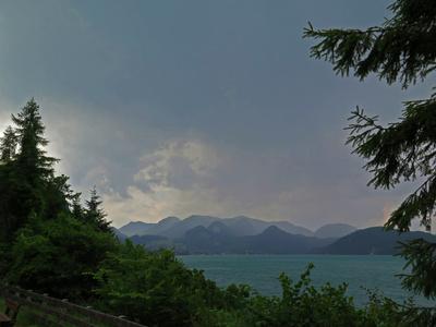 Gewitterfront über dem Wolfgangsee