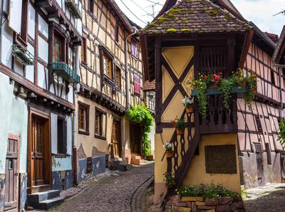 Fachwerk-Idylle in Eguisheim