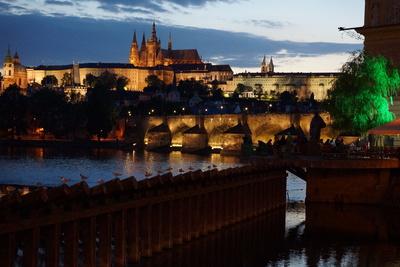 Prag_Karlsbrücke_Abendstimmung