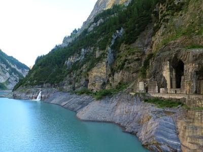 Sommer-Wasserstand im Gigerwald-Stausee