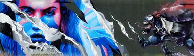 Graffity an Baustelle der EZB .......