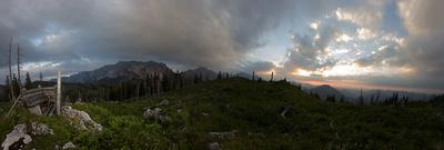 Panorama vom Sonnenuntergang vom 21.Juni 2014
