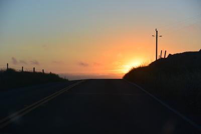 Highway 1 Sonnenuntergang