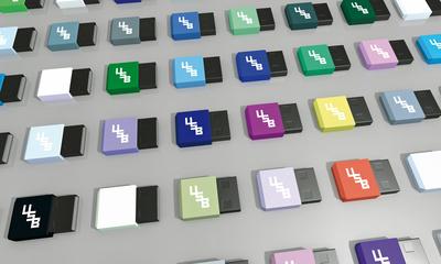 bunte USB Sticks 3D Hintergrund