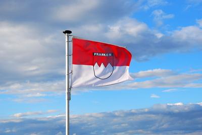 Frankenflagge auf dem Staffelberg