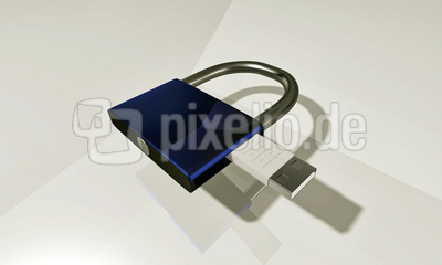 Sicherheitsschloss USB Datenschutz