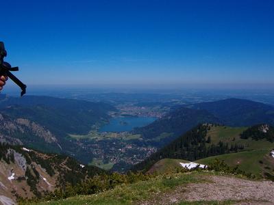 Spitzingsee in Oberbayern vom Taubenstein gesehen