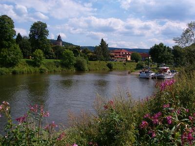 Hannoversch-Münden Zusammenfluss Fulda und Werra