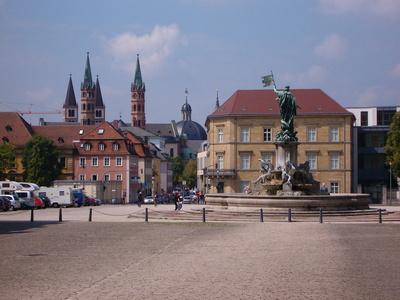 Würzburg Innenstadt von der Residenz aus gesehen