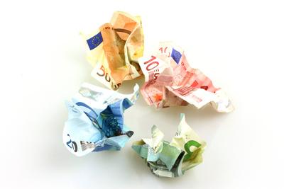 Zerknülltes Geld