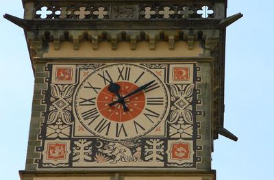 Passau - Turmuhr am Alten Rathaus 01
