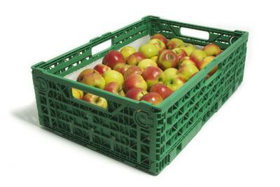 Kiste mit Äpfeln
