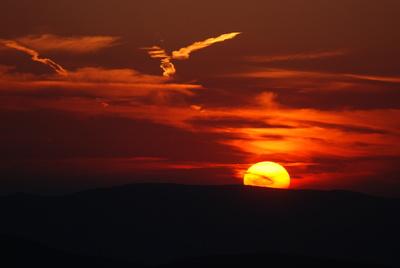 Sonnenuntergang auf der Hindenburgkanzel
