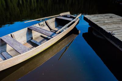 Ruderboot am Mummelsee