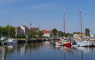 Der Stadthafen von Greifswald