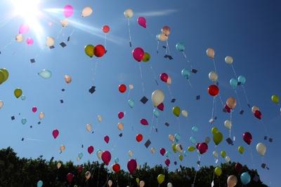 Luftballonsstart