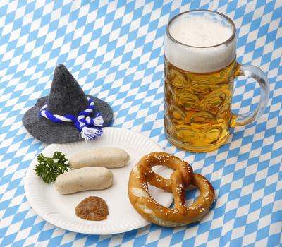 Oktoberfest Menü mit Hut