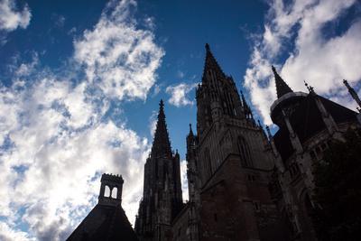 Ulmer Münster im Gegenlicht