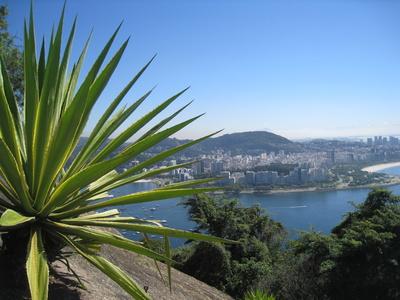 Rio, Blick vom Zuckerhut auf die Botafogo Bucht