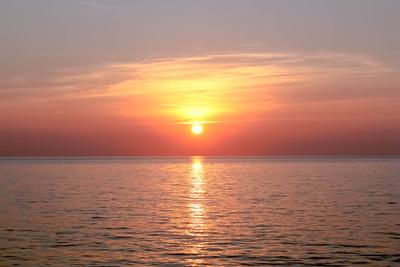 Langsamer Sonnenuntergang