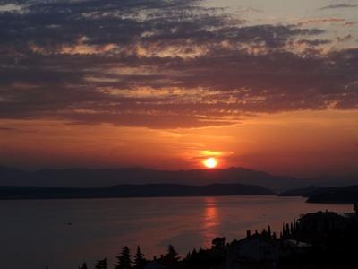 Abendhimmel in Kroatien