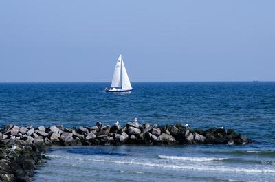 Segelboot in der Ostsee