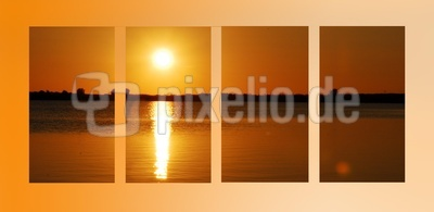 Sonnenuntergang in Streifen
