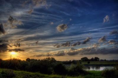 East Frisian sunset