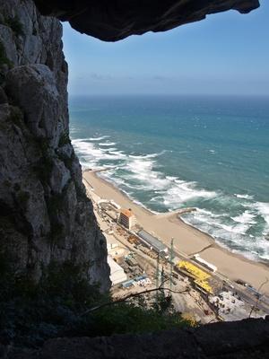 Blick auf  Küste-Gibraltar