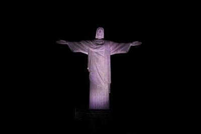 Christo Redentor am Abend ...beleuchtet