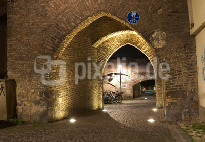 Ulmer Stadtmauer am Abend