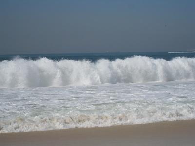 tosende Wellen an der Copacabana