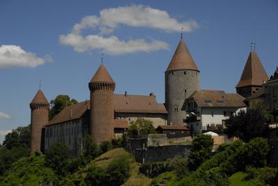Schloss in Estavayer le Lac, Schweiz