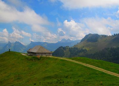 Typisches Bauernhaus auf dem Moléson