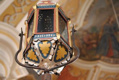 Laterne in der Frauenkirche in Wasserburg am Inn