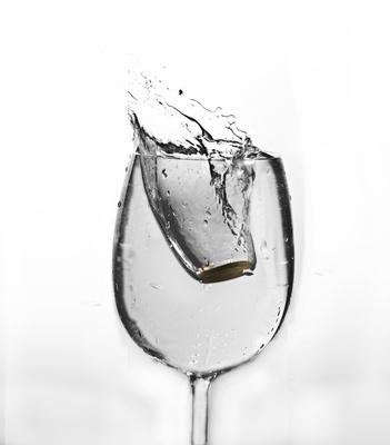 splash im glas