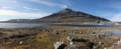Bergseelandschaft in Südnorwegen