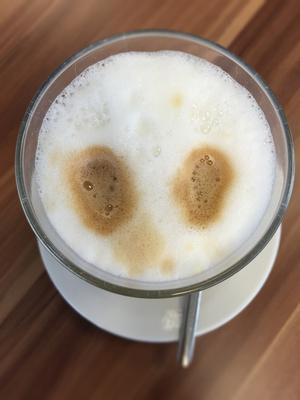 Latte Macchiato von Oben