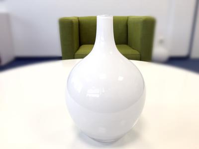 Vase weiß rund