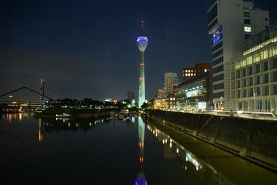 Medienhafen - Düsseldorf bei Nacht
