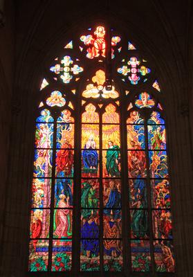 Prag - Glasfenster im St. Veits-Dom 02