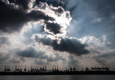 Stimmung am Hamburger Hafen