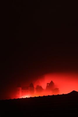 Burg Wertheim in Flammen