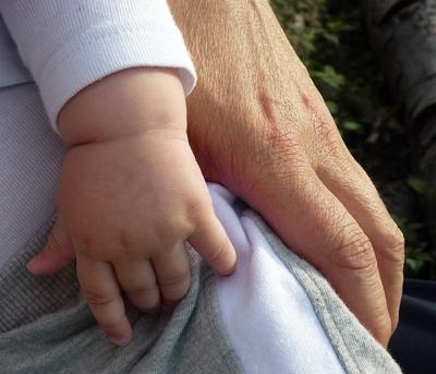 Große Hand, kleine Hand