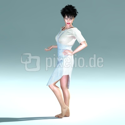 Schwarzhaarige Frau