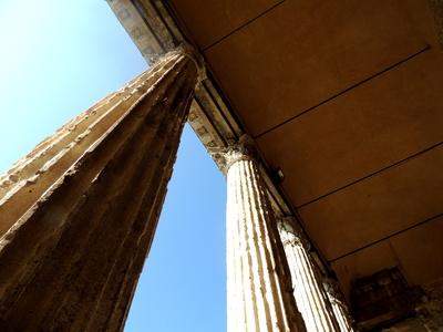 Säulen des Minerva-Tempels